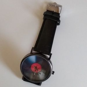 Unisex Vinyl Record  Print Watch